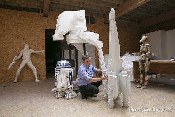 Ontwerp sculpturen en standbeelden Lasergame