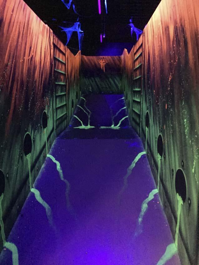 Schilderijen en decoraties fluorescerende Lasergame